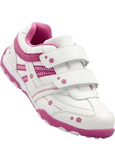 Кроссовки (белый/ярко-розовый) Bonprix