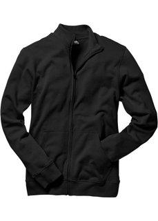 Трикотажная куртка стандартного покроя (черный) Bonprix