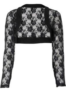 Кружевная куртка-болеро (черный) Bonprix