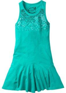 Платье с пайетками (изумрудный) Bonprix
