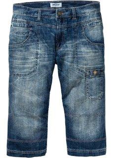 Джинсы Regular Fit Straight длиной 3/4, cредний рост (N) (синий «потертый») Bonprix