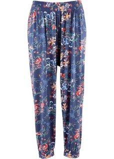 Трикотажные брюки (индиго с рисунком) Bonprix