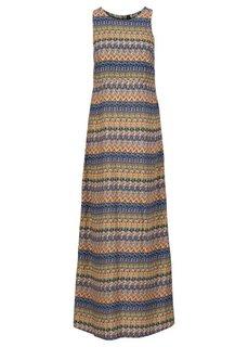 Макси-платье (синий/зеленый с узором) Bonprix