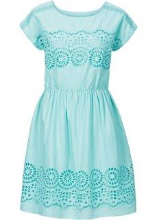 Тканое платье с кружевной вставкой (зеленый персидский) Bonprix
