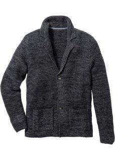 Вязаный жакет Regular Fit (темно-серый меланж) Bonprix
