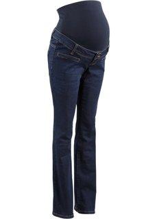 Для будущих мам: джинсы Bootcut (темно-синий «потертый») Bonprix