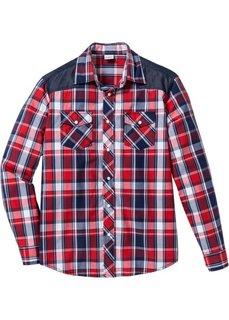 Рубашка Regular Fit с длинным рукавом (красный в клетку) Bonprix