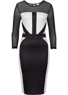 Платье-футляр (черный) Bonprix