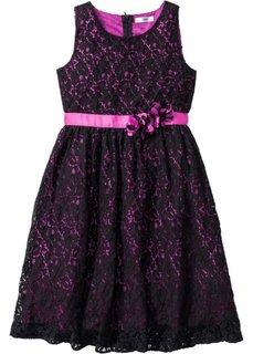 Кружевное платье (черный/фуксия) Bonprix
