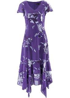 Платье с цветочным принтом (лиловый с рисунком) Bonprix