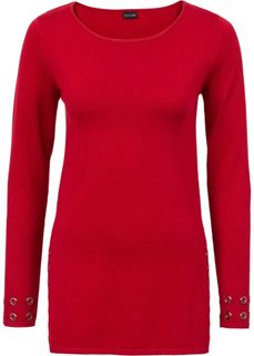 Пуловер с заклепками (темно-красный) Bonprix