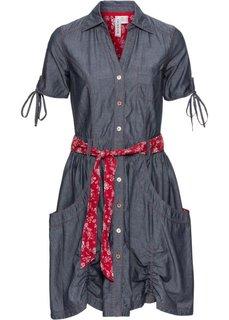 Джинсовое платье (темный деним) Bonprix