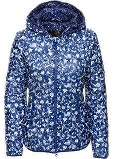 Функциональная стеганая куртка с сумкой для хранения (ночная синь с рисунком) Bonprix