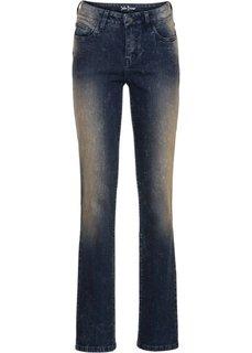 Прямые стрейтчевые джинсы, cредний рост (N) (темно-синий) Bonprix