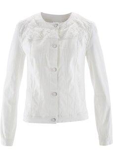 Куртка с вышивкой (кремовый) Bonprix