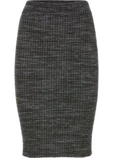 Трикотажная юбка (серый меланж) Bonprix