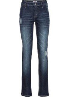 Прямые стретчевые джинсы, cредний рост (N) (темно-синий) Bonprix