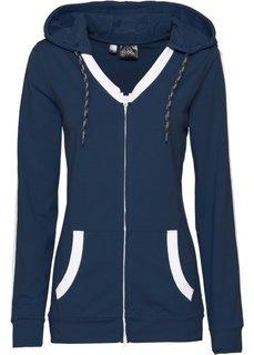 Трикотажный анорак с карманами-кенгуру (темно-синий) Bonprix