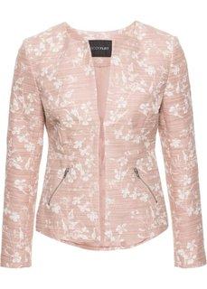 Жакет из хлопка букле (розовый винтажный в цветочек) Bonprix