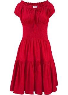 Платье в стиле пейзан (красный) Bonprix