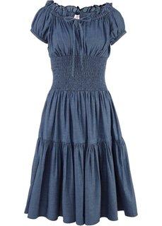 Платье в стиле пейзан (темно-синий) Bonprix
