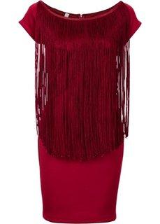 Коктейльное платье (красный) Bonprix