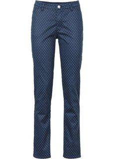 Твиловые брюки с принтом в горошек (темно-синий/белый) Bonprix
