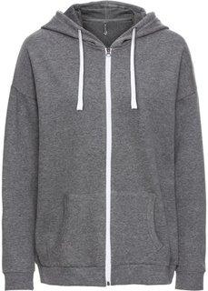 Обязательный элемент гардероба: свободный худи в стиле бойфренд (серый меланж) Bonprix
