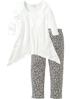 Пижама с легинсами капри (с принтом) Bonprix
