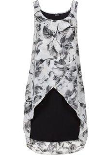 Платье (черный/серый с рисунком) Bonprix