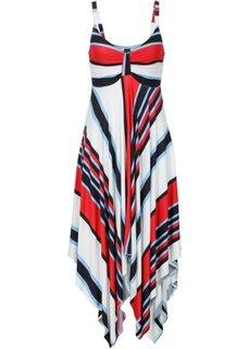 Обязательный элемент гардероба: платье с асимметричным низом (яркая полоска) Bonprix