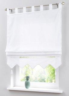 Римская штора Илона, петли (белый) Bonprix