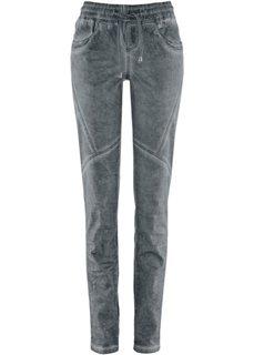 Хлопковые брюки с варенкой (серый) Bonprix