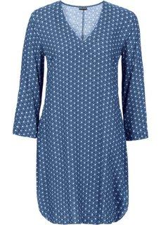 Платье (ночная синь с узором) Bonprix