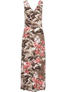 Платье макси (коричневый в цветочек) Bonprix