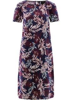 Платье из вискозы (темно-синий в цветочек) Bonprix