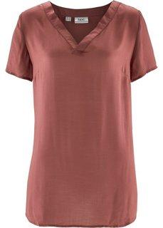 Блузка с коротким рукавом (марсала) Bonprix
