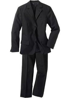 Классический костюм-двойка, стандартный (черный) Bonprix