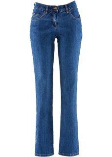 Прямые джинсы стретч, низкий рост K (синий «потертый») Bonprix