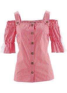 Блузка в баварском стиле (красный/белый в клетку) Bonprix