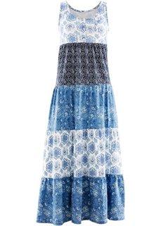 Трикотажное платье (индиго с рисунком) Bonprix