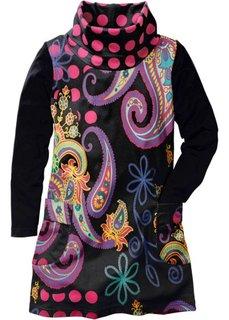 Платье с ярким принтом (черный с принтом) Bonprix