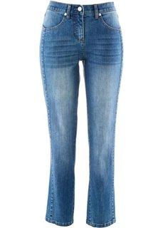 Джинсы-стретч длиной 7/8 (синий «потертый») Bonprix