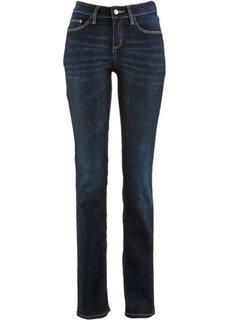 Прямые джинсы-стретч, низкий рост K (темный деним) Bonprix