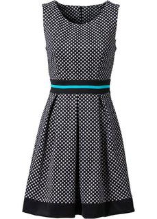 Платье в горошек (черный/белый в горошек) Bonprix