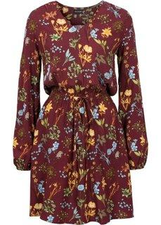 Платье с принтом (кленово-красный с рисунком) Bonprix