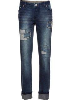 Прямые джинсы (темный деним) Bonprix