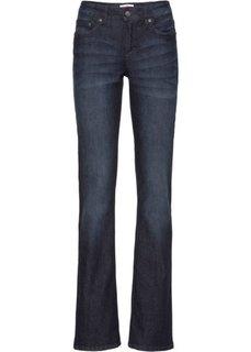 Расклешенные стрейтчевые джинсы, высокий рост (L) (темно-синий) Bonprix