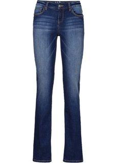 Утягивающие джинсы стреч STRAIGHT, низкий рост (K) (темно-синий) Bonprix