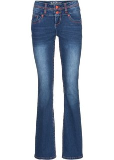 Расклешенные стрейтчевые джинсы, низкий рост (K) (синий) Bonprix